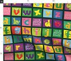 Fantasy Cheater Blocks Monsters Book Panels Spoonflower Fabric by the Yard