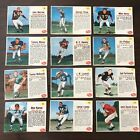 1962 POST CEREAL FOOTBALL LOT 12 CARDS