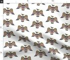 Tribal Eagle Native Thunderbird American Indian Spoonflower Fabric by the Yard