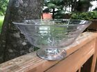 Vintage Hawkes Etched Cut Glass Crystal Centerpiece Bowl Compote Signed 8