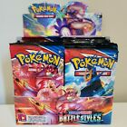 10 BATTLE STYLES Booster Pack Lot Factory Sealed From Box Pokemon Cards