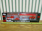 Red  White Peterbilt 379 Semi With Chrome MAC Dump Trailer By DCP 1 64th Scale