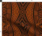 Maori Tapa Fabric Printed by Spoonflower BTY