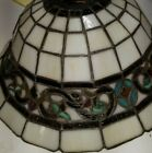 STAINED GLASS TIFFANY STYLE VINTAGE LOOKING CEILING OR LAMP SHADE