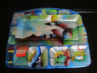 Fused Art Glass Plate Dishes Serving Snack Tray with Dish Sauces Contemporary