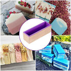 Silicone Soap Mold Rectangular Wooden Box With Flexible Liner For DIY Loaf Mo JB