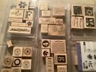 Huge Lot Of Wooden Rubber Stamps Variety 90pc Stampin Up USA Some Vintage