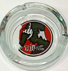 2007 Rapper TUPAC round clear glass Ashtray GOOD