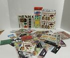 MEXICO Cancun Vacation Tropical 3D Stickers Embellishments Lot of 33