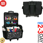 Floral Flower Rolling Tote Sewing Machine Wheeled Carrier Storage Bag Case NEW