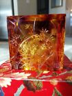 LIULIGONGFANG Chinese Crystal Art Glass Gold Fish Prosperity Signed  Numbered