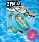 Aqua Deluxe Comfort Water Lounge XL Inflatable Pool Float LOT OF 2 Ships fast