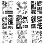 Christmas Sentiment Phrase Silicone Clear Stamps Diy Scrapbooking Handmade Craft
