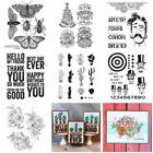 Flower Cactus Sentiments Silicone Clear Stamps Diy Scrapbooking Handmade Crafts
