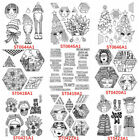 Vintage Face Festival Silicone clear Stamps Diy Scrapbooking Handmade Crafts