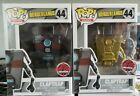 Funko Pop! Borderlands #44 Claptrap Gold +Gray EB Exclusives Vaulted New