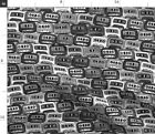 Cassette Tape Audio Silver Black White Retro Fabric Printed by Spoonflower BTY