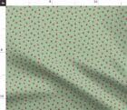 Paw Prints Dog Christmas Christmas Holiday Cute Spoonflower Fabric by the Yard