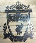 Large LIVERPOOL FC Logo Metal Sign Fan Made Wall hanging Football crest team