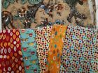 Lot of pink cottons panel tapestry fabrics