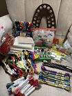 Hand embroidery crosstitch items lot