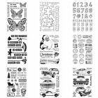 Merry Christmas Car Silicone clear Stamps Diy Scrapbooking Paper Cards Crafts