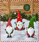 CHRISTMAS GNOME YARD STAKE Holiday Festive Figure Outdoor Lawn Decor 3 CHOICES