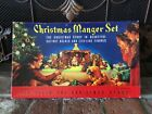 NEW VINTAGE CHRISTMAS MANGER NATIVITY SET CARDBOARD CUT OUT STAND UP 1990 Repo