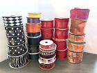 Huge Lot Of 32 New Ribbon Spools Assorted Brands Sizes Colors Variety