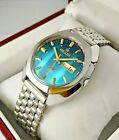 NOS Blue Dial Ricoh Two Tone Vintage Automatic Watch new old stock 80s stock