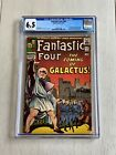 Fantastic Four 48 CGC 65 1st Full Silver Surfer + 1st Cameo Galactus New Label