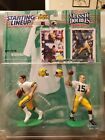 1997 Starting Lineup Classic Doubles - Brett Favre And Bart Starr. Packers Stars
