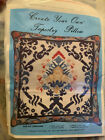VTG Create Your Own NEEDLEPOINT Tapestry PILLOW 14 KIT Canvas  100 Wool Yarn