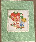 Vintage Strawberry Shortcake Fabric Quilt Panel 34 x 44 Springs Mills 1980