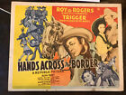 Hands Across The Border 1944 Republic 11x14 western title lobby card Roy Rogers