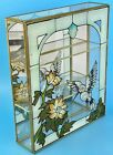 Vintage Mirrored Glass And Brass Curio Cabinet Display Case Small Miniatures 11