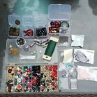 Glass Bead Lot Jewelry Making Crafts Beads Findings PLUS Tools WOW FS
