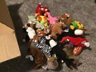 18 Beanie Baby, 10 Baby Beanie Lot: Snort, Pincers, Smoochy, Pinky, Nuts, Baldy