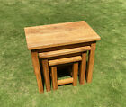 Solid Chunky Oak Furniture Nest of 3 Tables