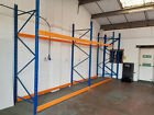 PALLET RACKING SHELVING HEAVY DUTY BOLTLESS ASSEMBLY BUT USES BOLTS TO FLOOR