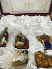Partial Old World Christmas Nativity Ornament Set 14020 Five 5 Ornaments
