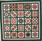 Green Quilt Hand Painted Needlepoint Canvas