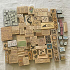 78+ Wooden Rubber Stamps word sayings flowers quilt Stampin Up +38 foam