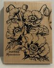 PSX POPPIES Poppy Flowers Botanical Blooms Floral K 1613 Rubber Stamp Rare