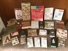 HUGE SCRAPBOOK LOT Christmas Paper Stamps Punches Stickers NEW