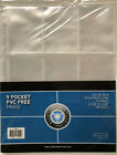 1000 9 POCKET PAGES TRADING CARD CSP ALBUM PROTECTOR STORAGE STITCHED SHEETS