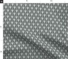 Black White Geo Panel Native Spoonflower Fabric by the Yard
