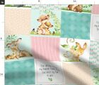Animals Baby Panel Wholecloth Baby Animals Baby Spoonflower Fabric by the Yard