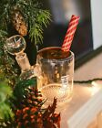 Hemper Holiday Glass Coco Mug Water Pipe Hookah with flower bowl Ships from Az