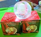 Set of 3 Vintage Kosta Snowball Crystal Votive Candle Holders 2 Still in Box